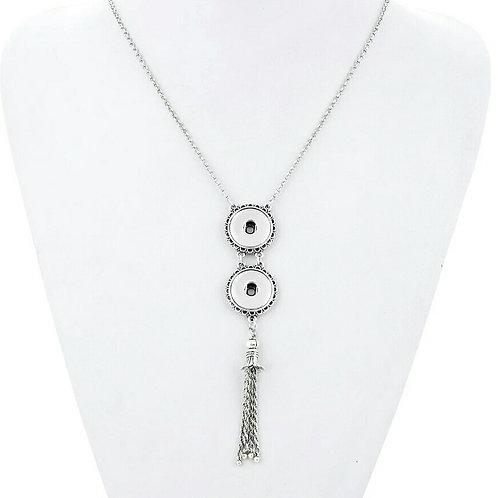 Double Snap Tassle Necklace