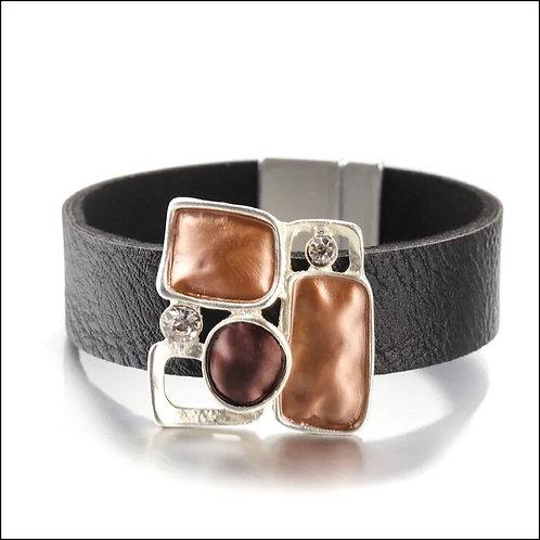 Black Multicolor Rhinestone  Bracelet
