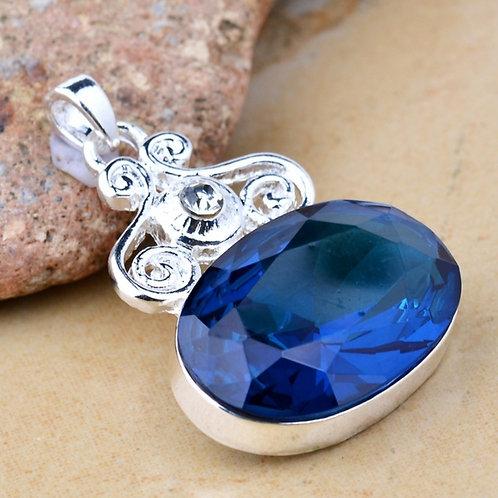 Blue Oval Pendant/Necklace
