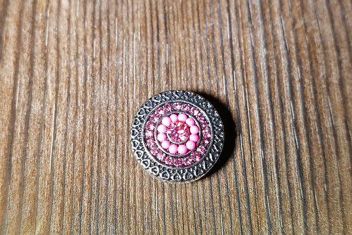 Pink Rhinestone Bead Snap