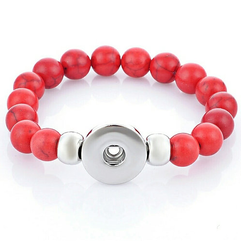 Red Bead Stretch Bracelet