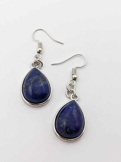 Lapis Lazuli Gemstone Dangle Earrings
