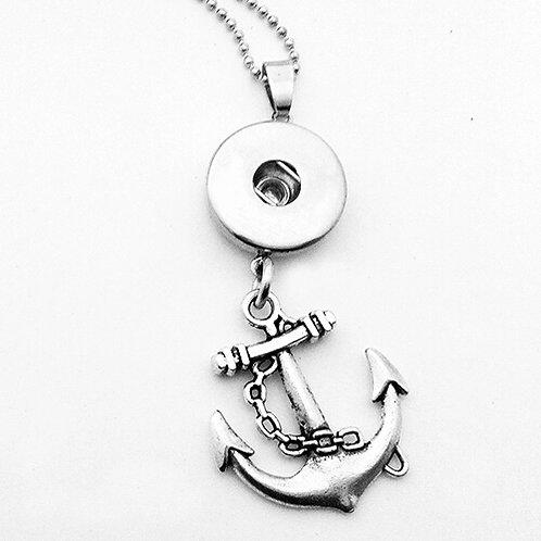 'Silver' Anchor Snap Necklace