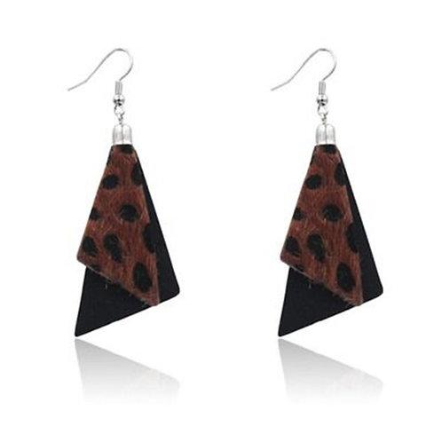 Black Animal Print Earrings