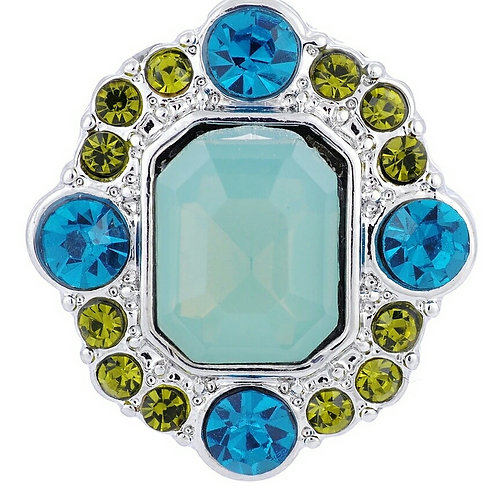 Green/Blue Rhinestone Snap