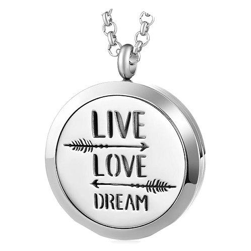 Live, Love, Dream Diffuser Necklace