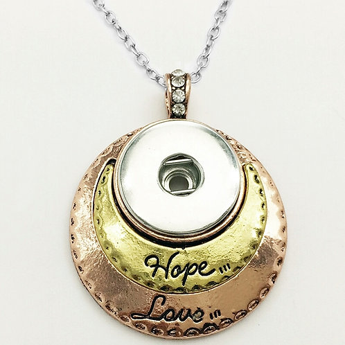Hope & Love Snap Necklace