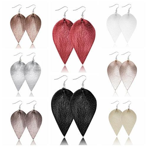 PU Leather Earrings