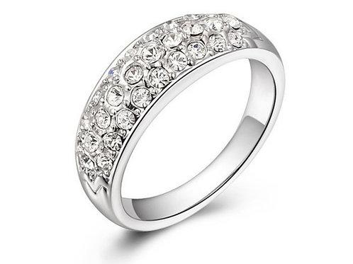 Inlaid Crystal Ring