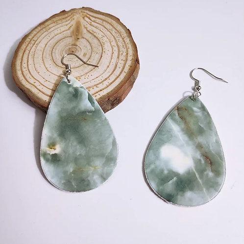 Marble Teardrop Earrings