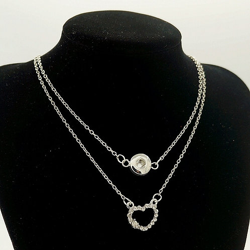 Mini Rhinestone Heart Necklace