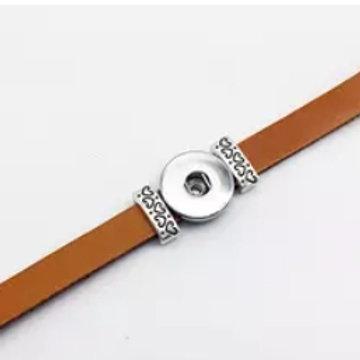 Brown Leather Cat Slide Bracelet