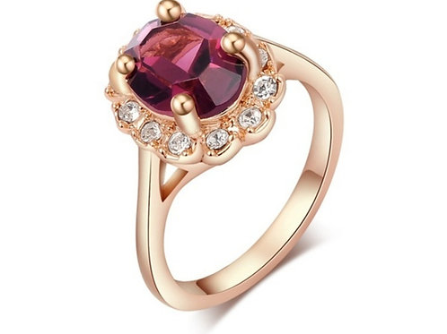 Rose Gold Purple Stone Ring