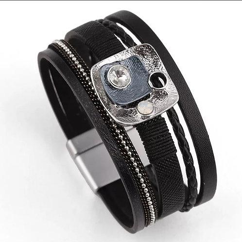 Black Deco Multilayer Bracelet