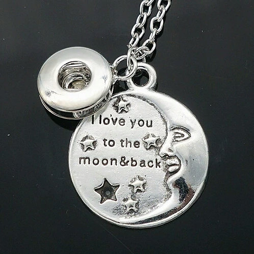 Love You To The Moon & Back Mini Snap Necklace