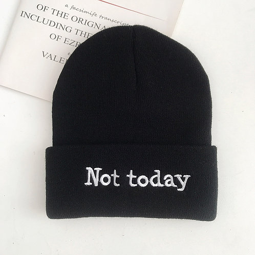 Black Not Today Knit Hat