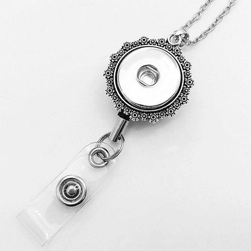 Floral Badge Holder (3) Necklace