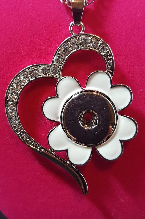 Clover/Rhinestone Necklace