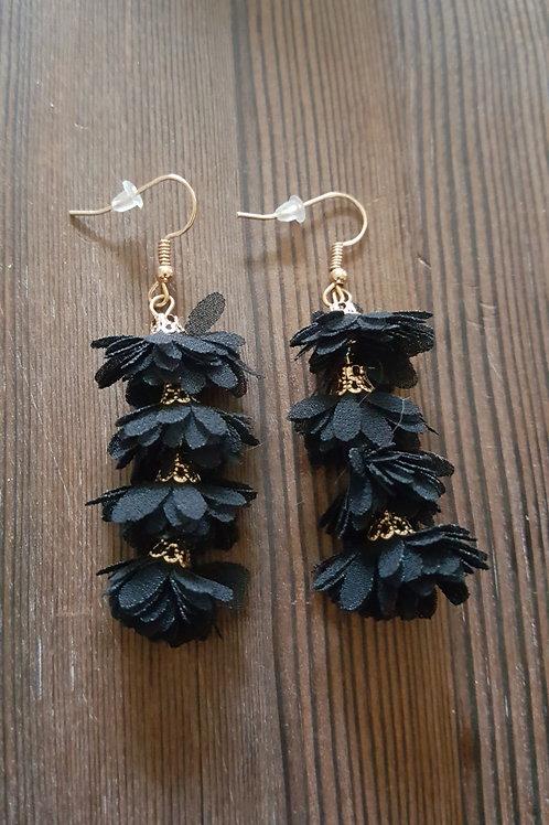 Four Layered Fringe Earrings