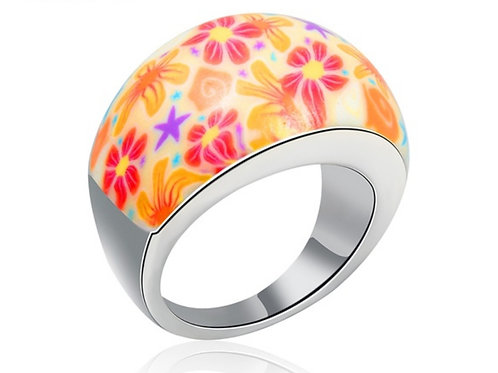 Colorful Flower Pattern Ring