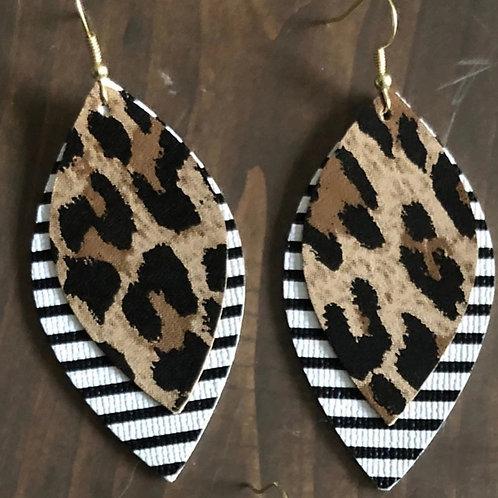 Animal Print & Stripe Earrings