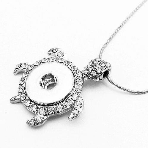 Turtle Rhinestone Necklace
