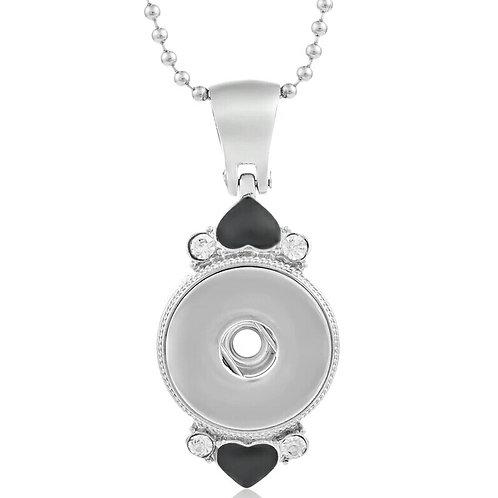 Black Heart Rhinestone Necklace