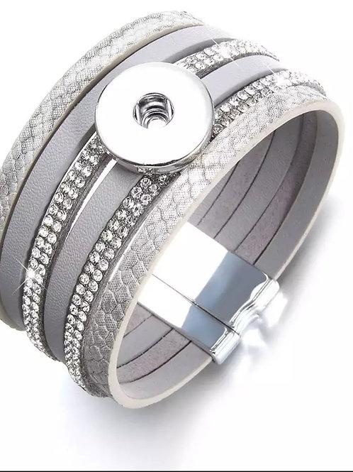 Gray Rhinestone Bracelet