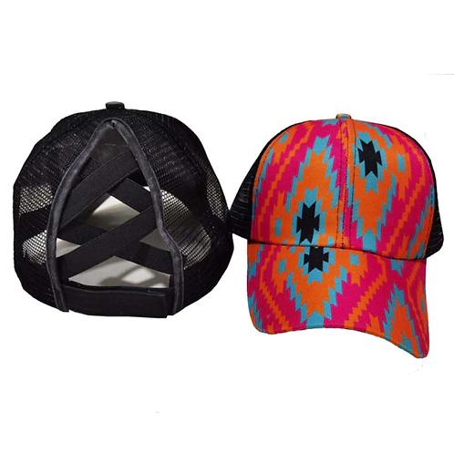 Aztec Ponytail Baseball Cap