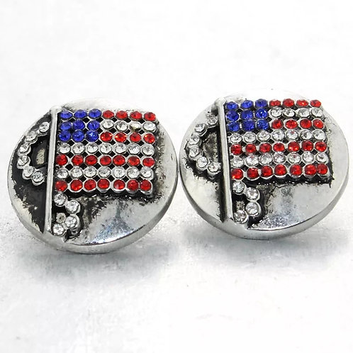 US Rhinestone Flag Snap