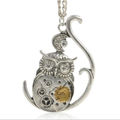 Steampunk Owl Necklace