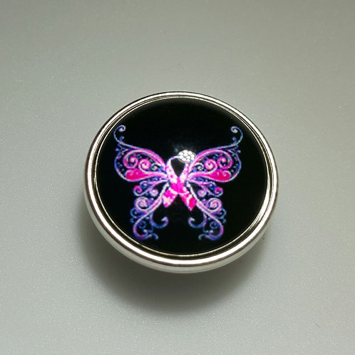 Breast Cancer Butterfly Snap