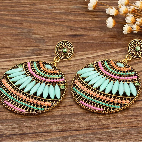Boho Multicolor Beaded Earrings
