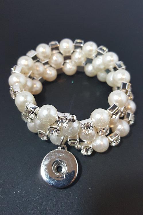 Pearl/Rhinestone Beaded Bracelet