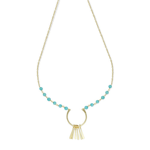Blue Stoned Necklace