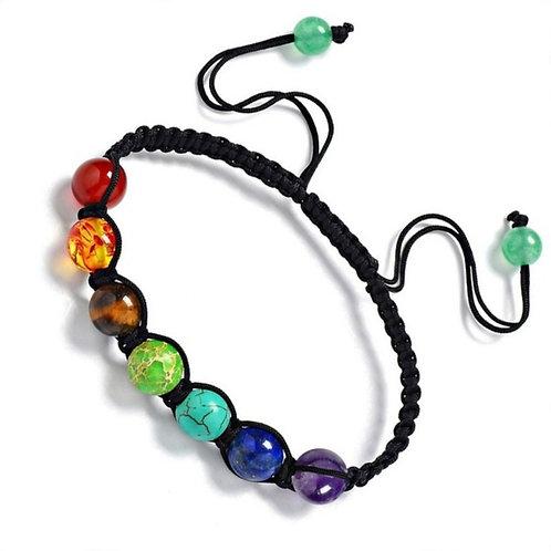 7 Chakra Healing Balance Beads Bracelet
