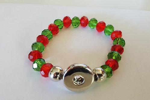 Red/Green Beaded Bracelet