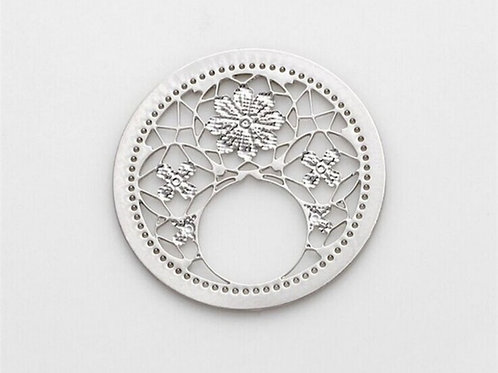 Floral Coin for Memory Locket