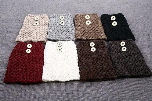 Light Gray Knit Boot Cuffs