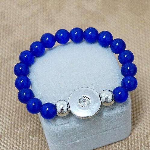 Royal Blue Cateye Beaded Stretch Bracelet