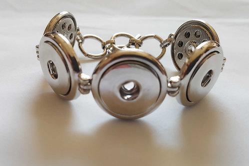 Silver Multi Snap Bracelet