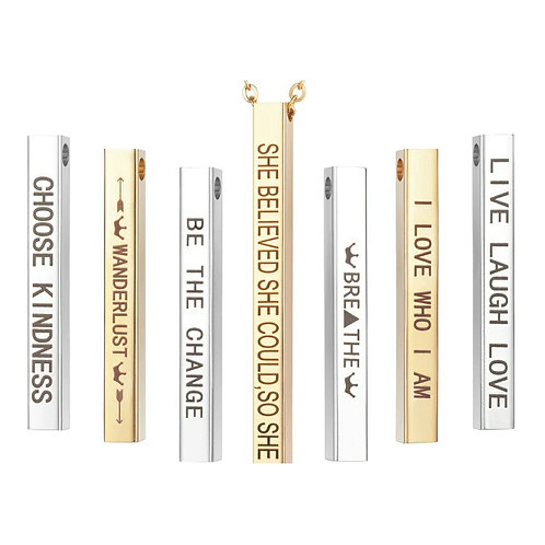 Live Laugh Love Mantra Necklace