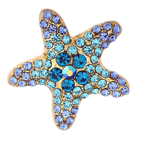 Blue Rhinestone Starfish