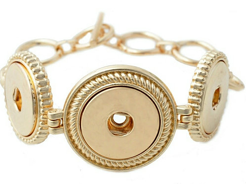 Gold 3 Snap Bracelet