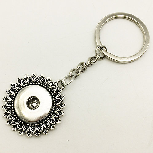 Double Floral Key Chain