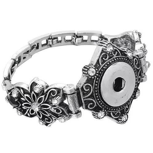 Floral Snap Bracelet