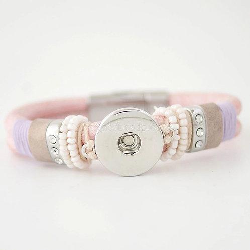 Pink Magnetic Closure Bracelet