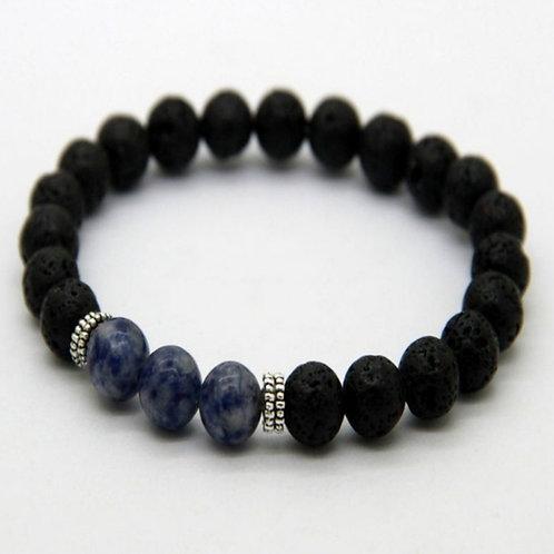 Lapis Lazuli & Lava Stone Diffuser Bracelet