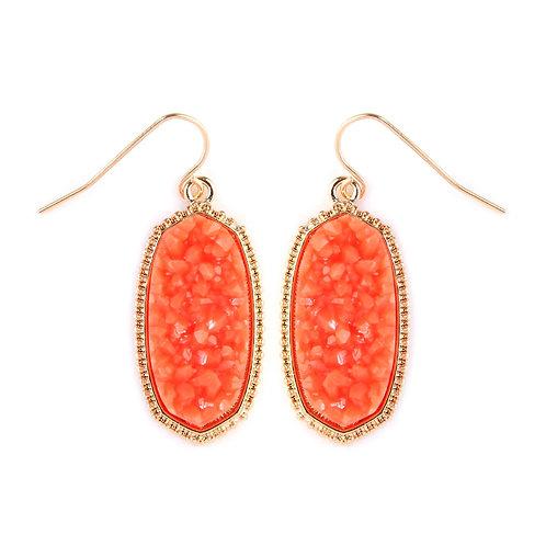 Druzy Small Drop Earrings