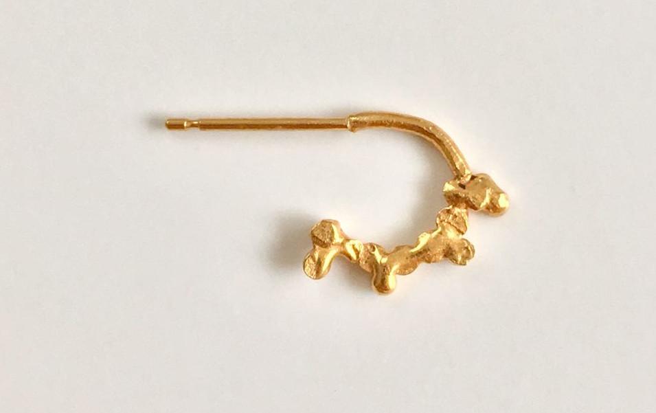 Mini Textured Hoop Earring